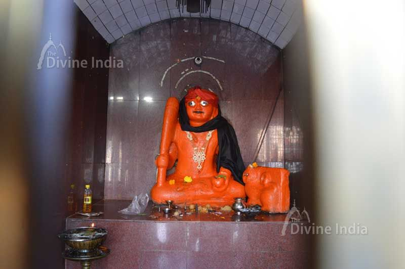 Lord Lal Bhairav sculpture at kangra devi temple