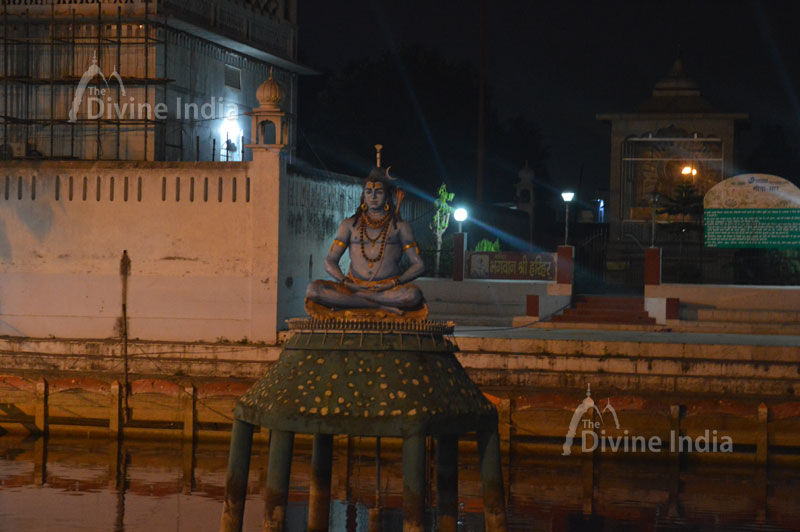 Lord Shiva Sculpture mid of Kund