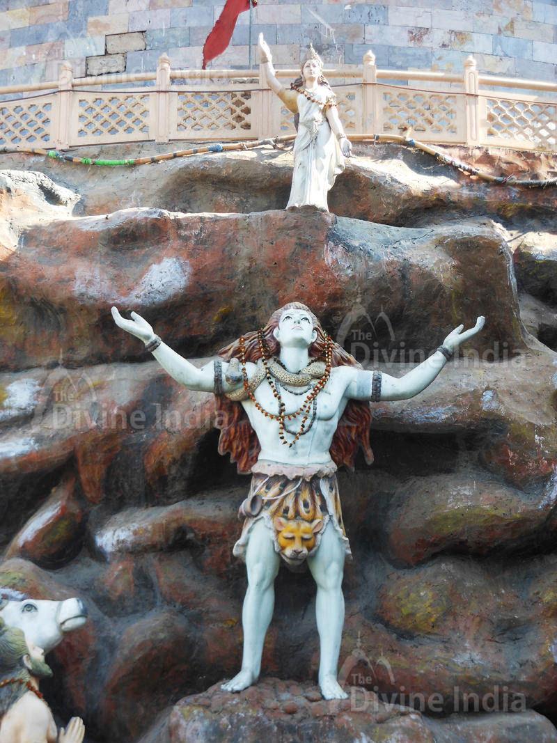 Lord Shiva with Ganga at Moksha Dham Temple