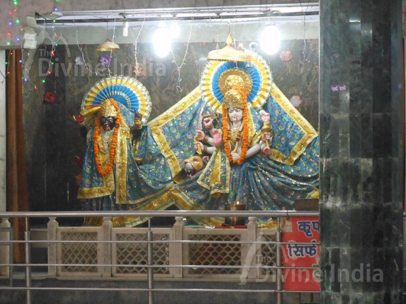 Lord Maa Durga idol at Shiv Mandir Gufawala-preet vihar