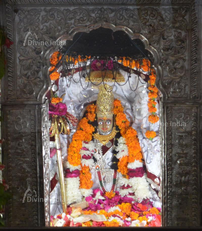 Maa Devi idol at Devi temple