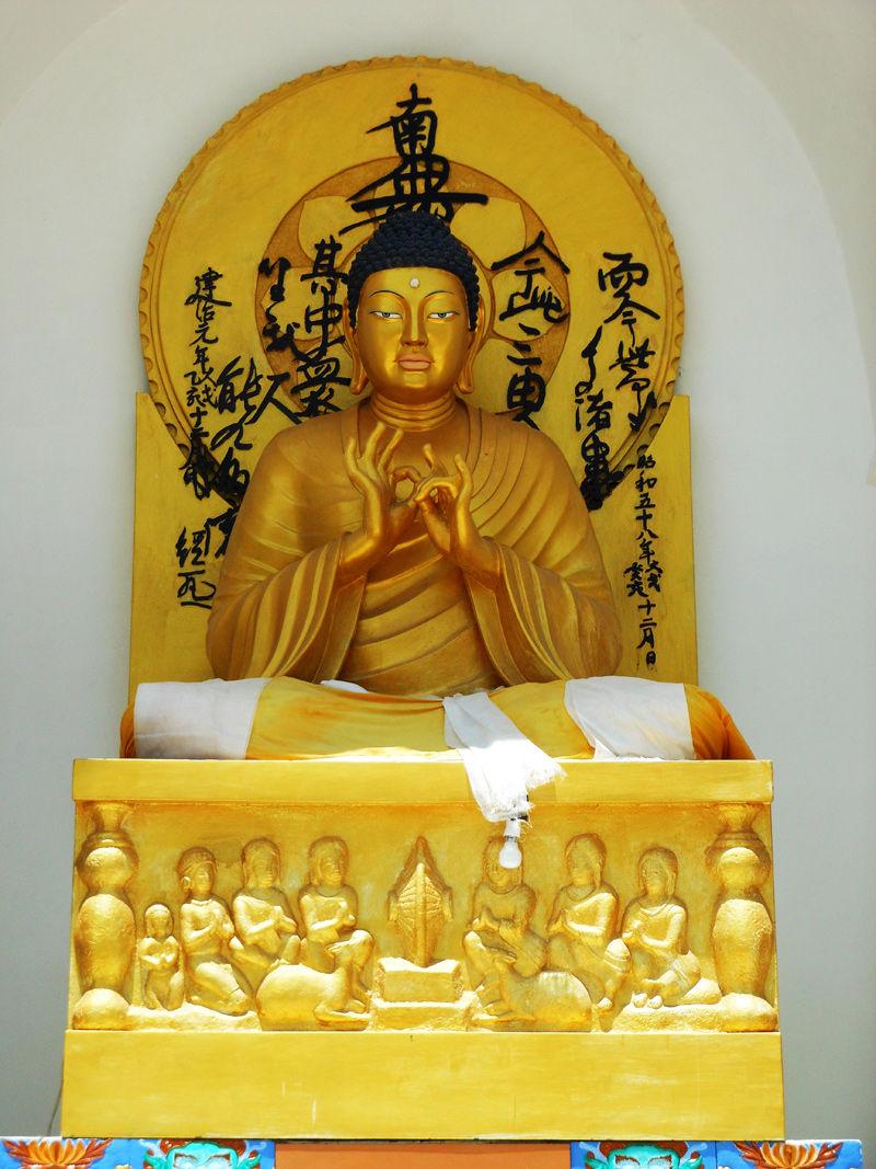 Other view of main Buddha Sculpture at Shanti Stupa