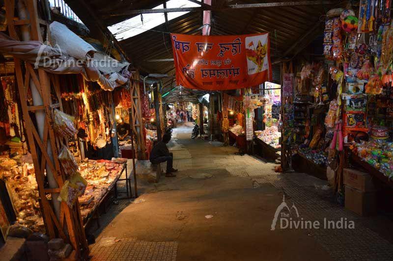 Makret Street at Kangra devi temple