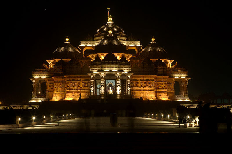 Beautiful Night view of Akshardham Temple