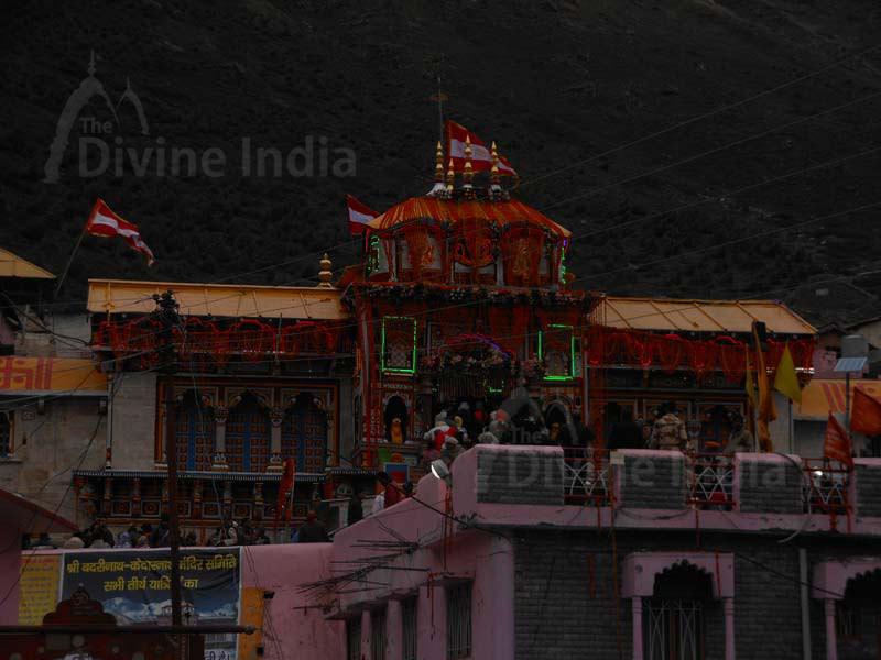 Night View of Badrinath Temple