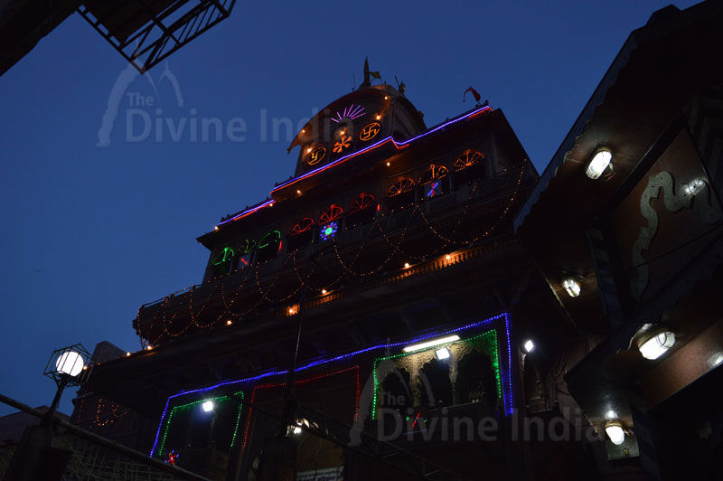 Night View of Shri Bankey Bihari Temple -Vrindavan