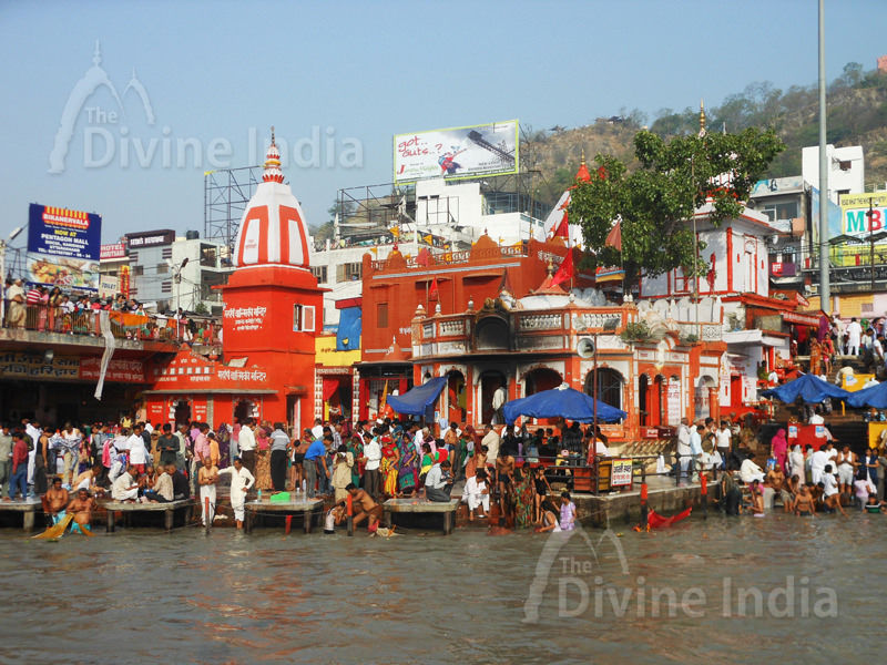 The Ganga Temple at Haridwar
