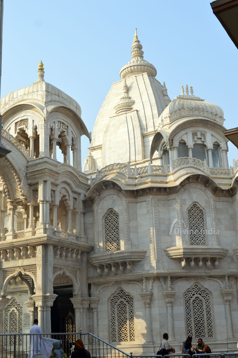 Other view of beautiful iskcon temple vrindavan