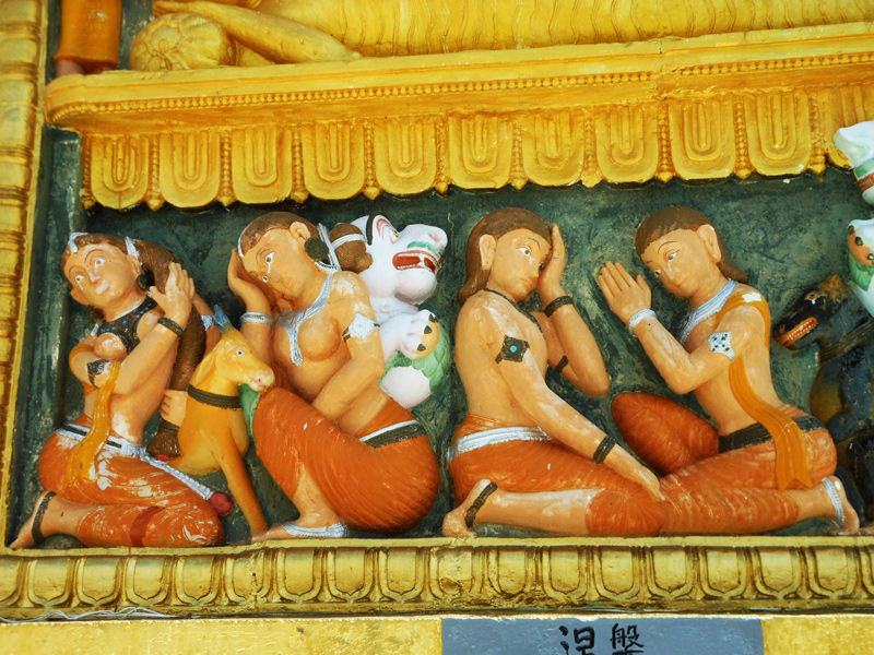 Other view of Pariniravana - Shanti Stupa