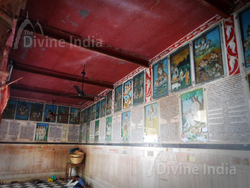 Beautiful Painting of khatu shyam at Sri Shyam kund hall