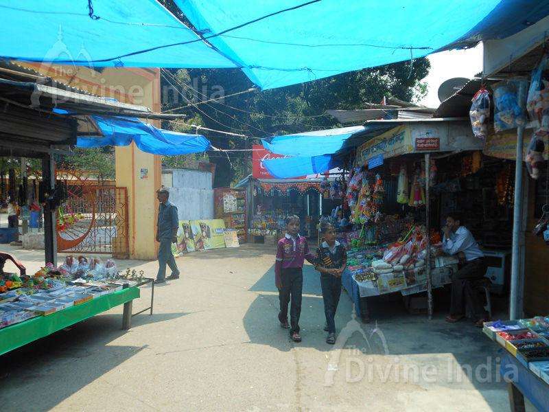 Outside Market at Girija Devi Temple