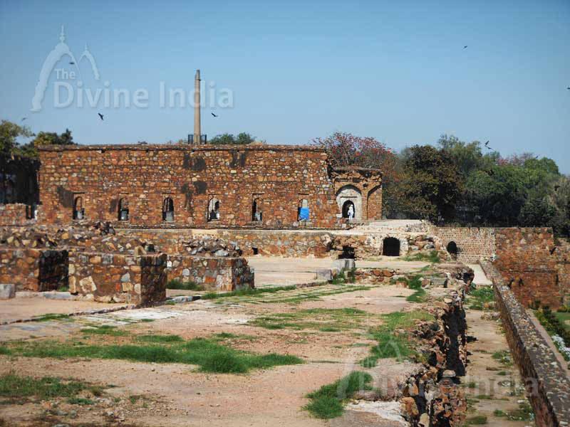 Pyramidal Structure in Feroz Shah Kotla Fort