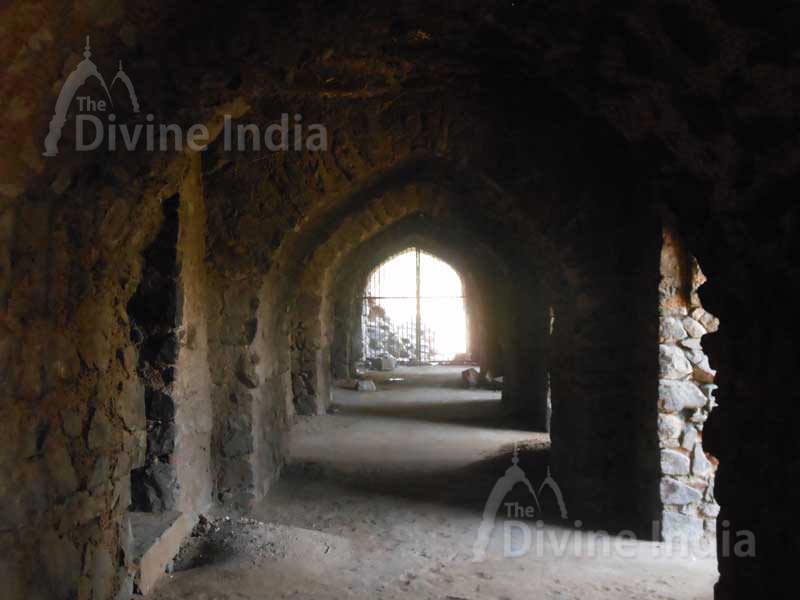 Pyramidal Structure Room Arches in Feroz Shah Kotla Fort