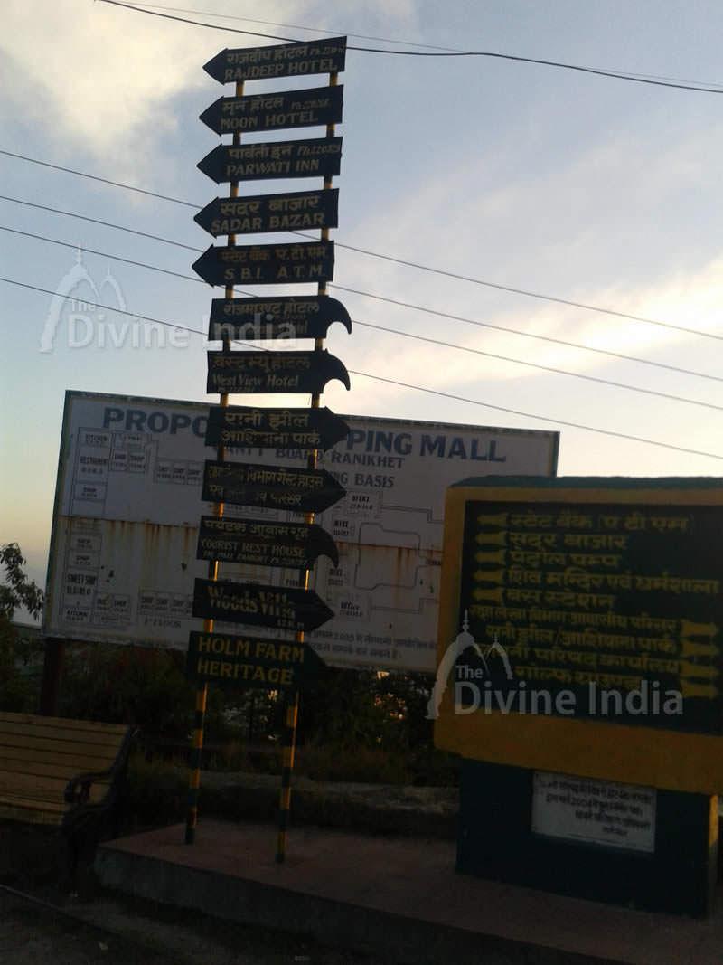 Road Guide Map - Ranikhet