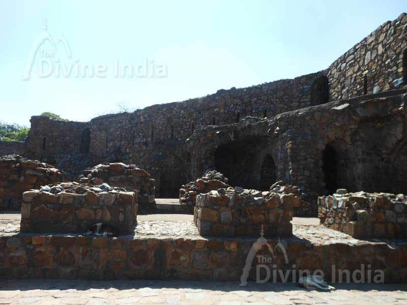 Ruins Palace in Feroz Shah Kotla Fort