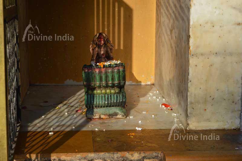 Sculpture of Lord Brahma at Kangra Devi Temple