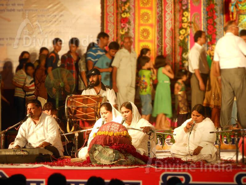 Singing Bhajan on Ganesh Chaturthi Festival