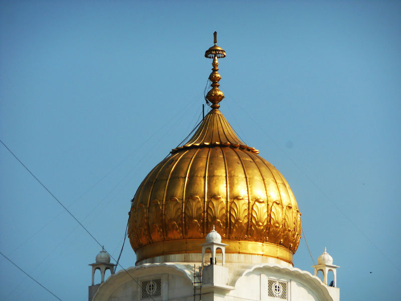 Top of Gurudwara Bangla Sahib