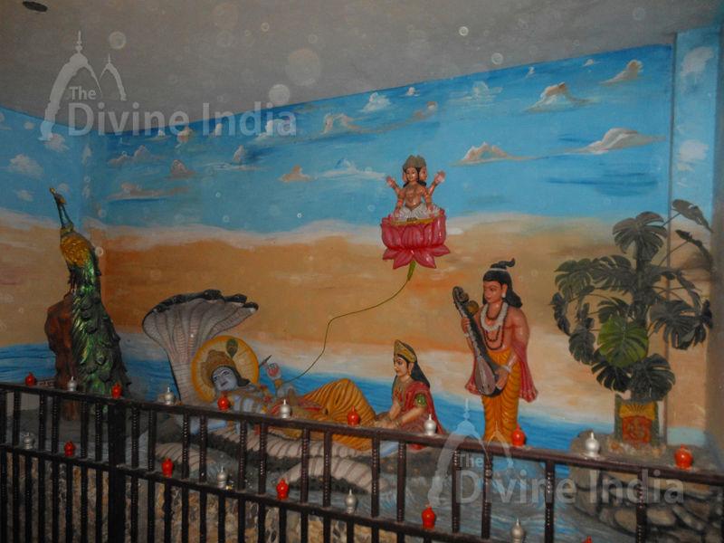 Vishnu and Laxmi Sculpture at Moksha Dham Temple