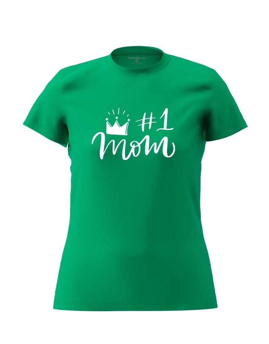 1 mom t shirt green