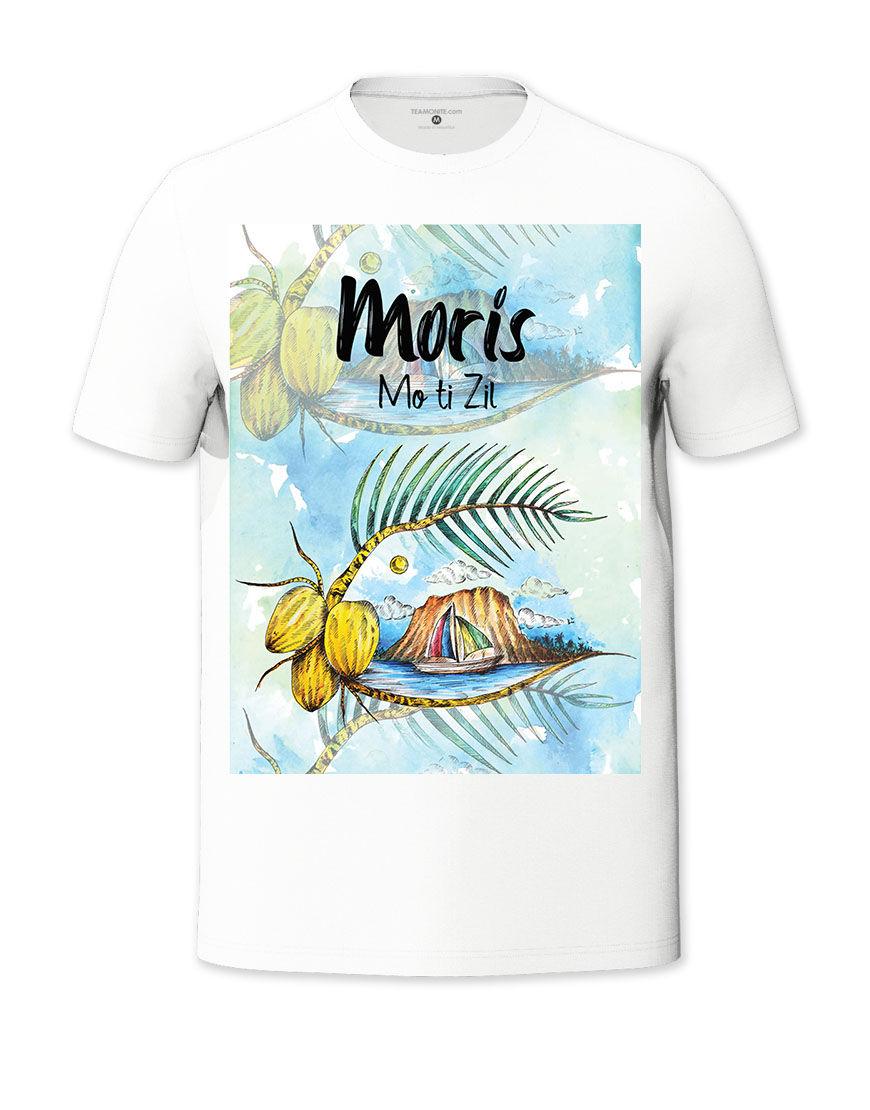 Moris Mo ti Zil Classic T-shirt - Design by Burthen Adjmeel