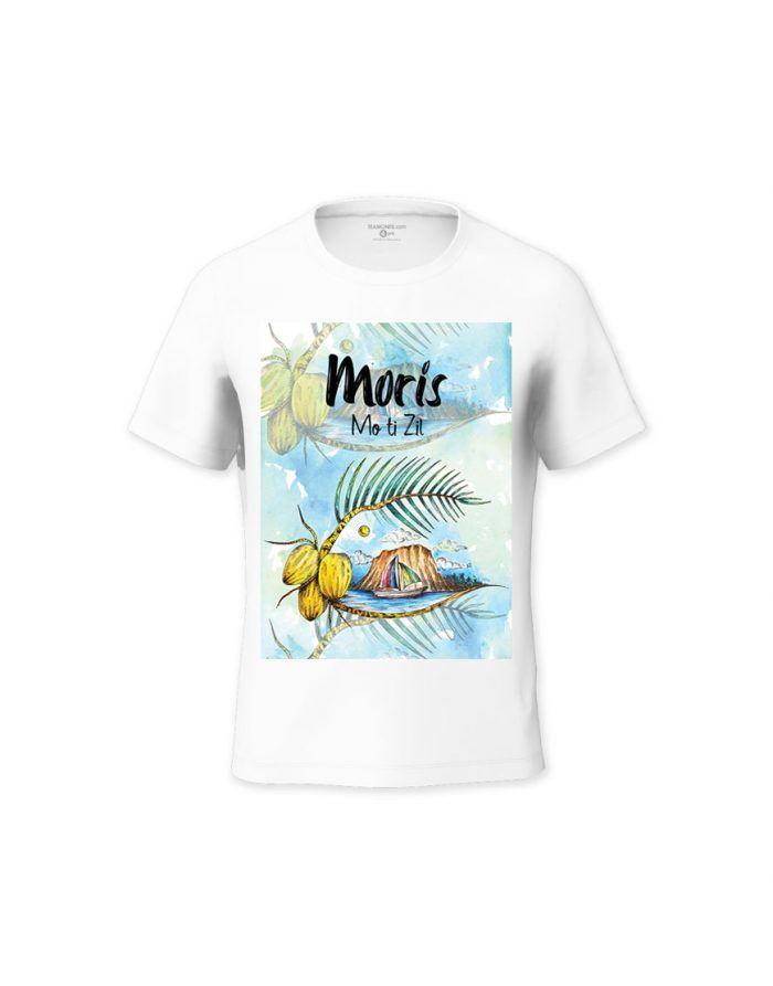 Moris Mo ti Zil Kid's T-shirt - Design by Burthen Adjmeel