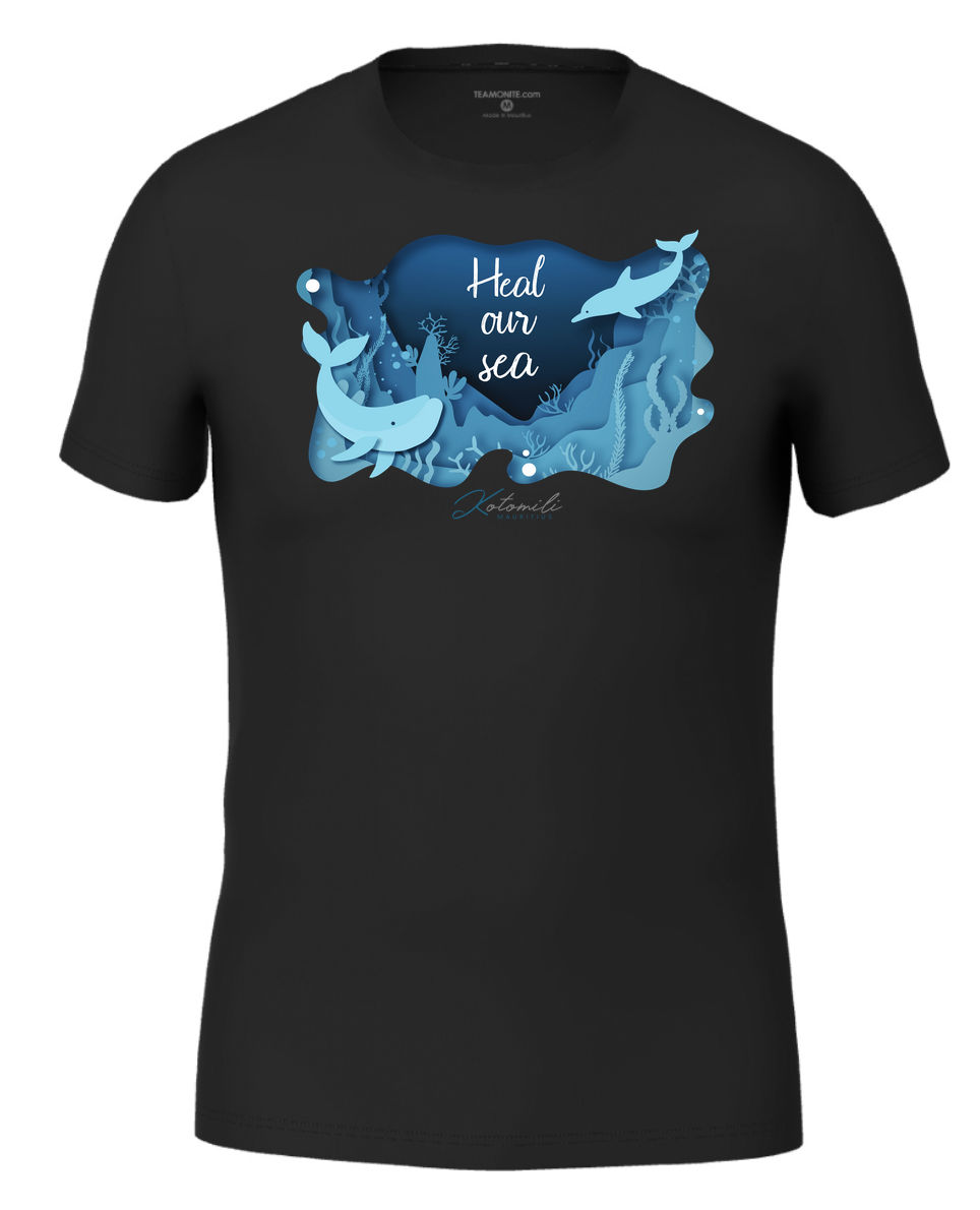 Heal our sea whale & dolphin Men's Modern Fit T-Shirt Black