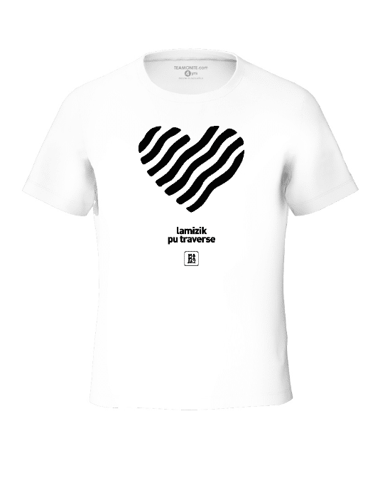 Tisert Zenes Black - White Tween's T-Shirt