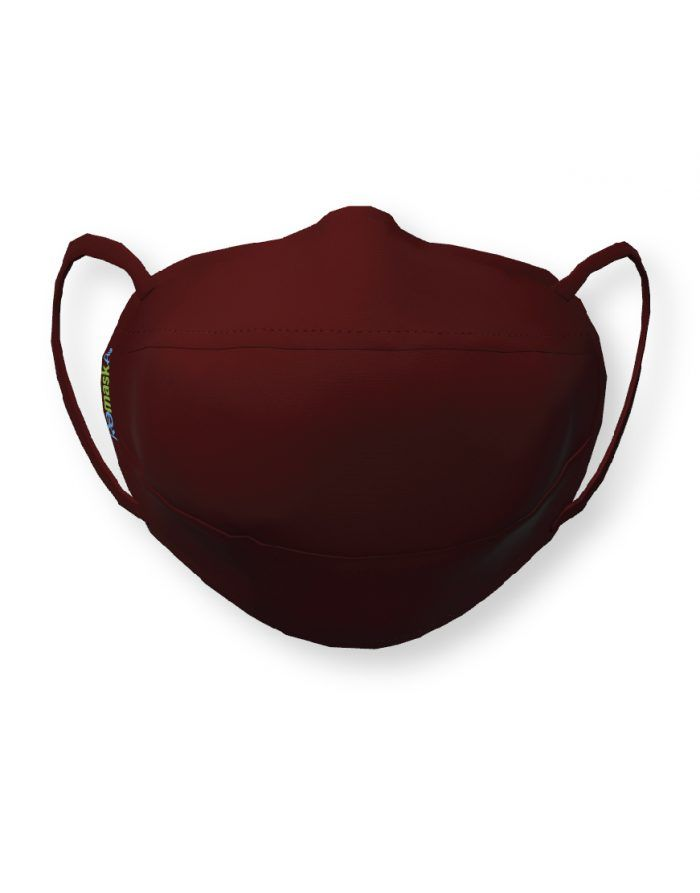 Bordeaux Burgundy face mask