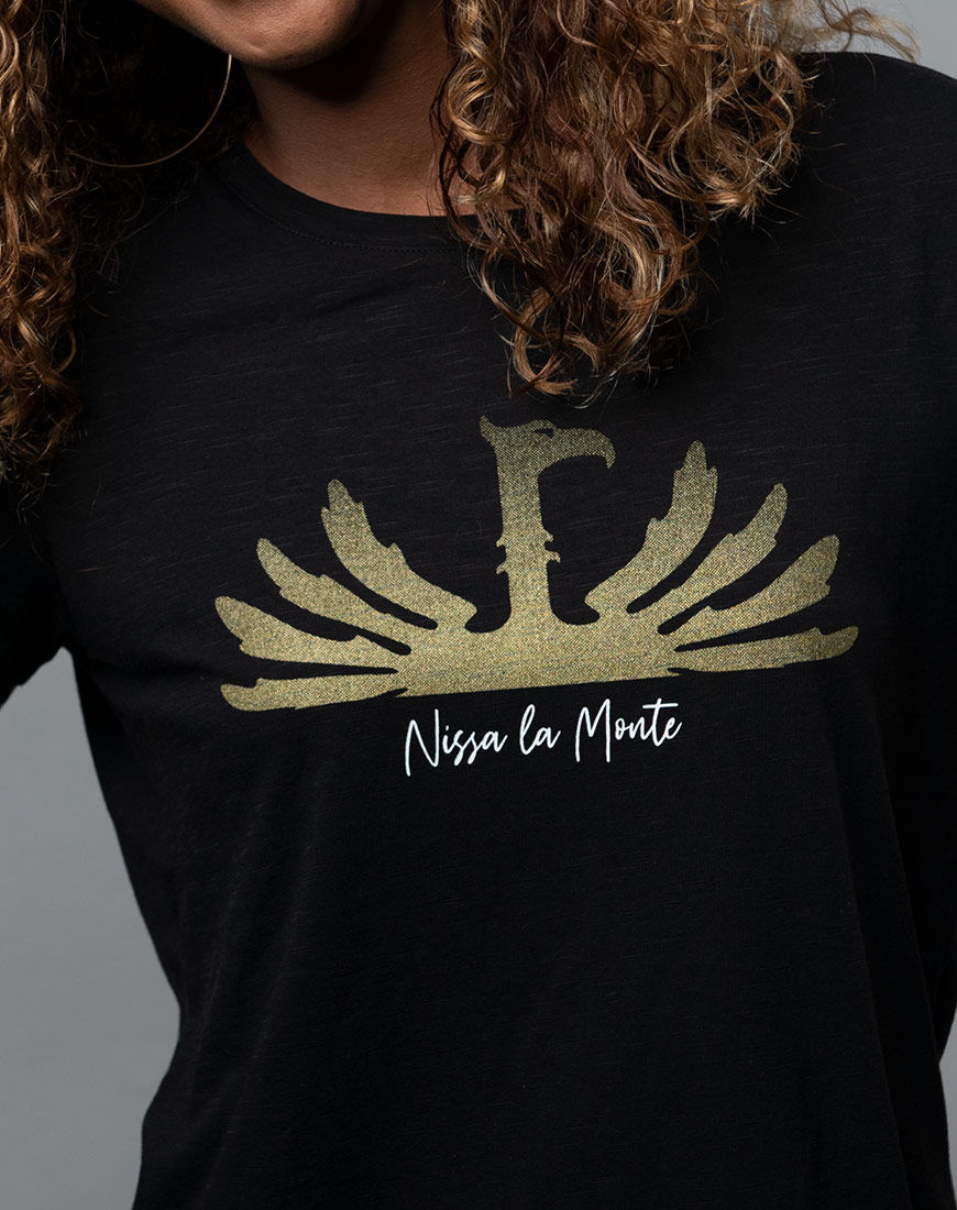 Nissa la monte - Phoenix Beer Logo t-shirt for women close-up
