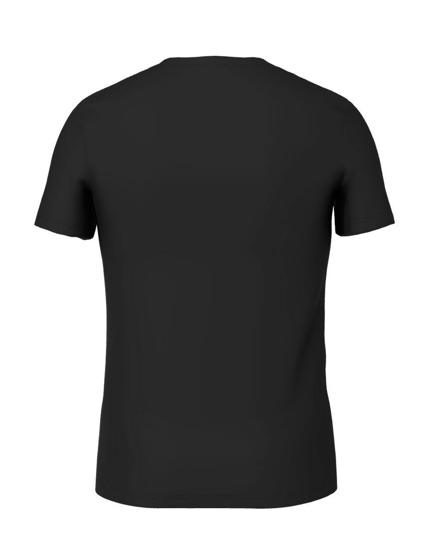 cotton stretch mens t shirt 3d black back