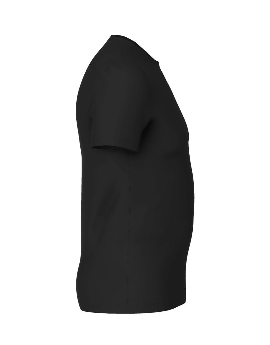 cotton stretch mens t shirt 3d black right