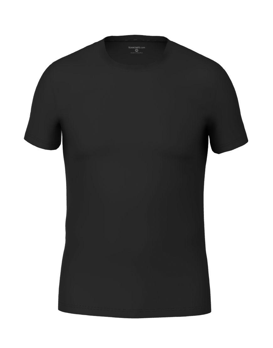 cotton stretch mens t shirt 3d black