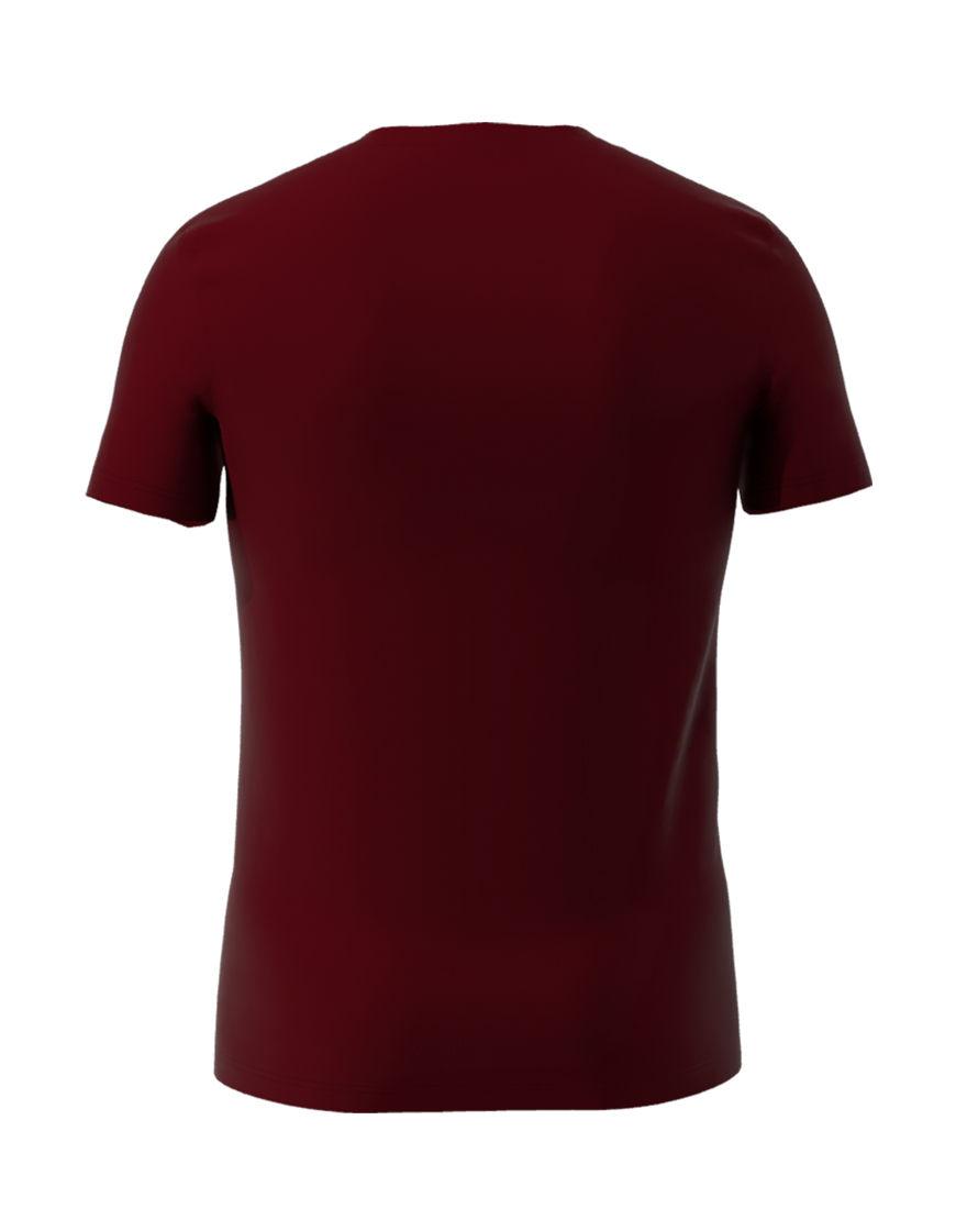 cotton stretch mens t shirt 3d burgundy back