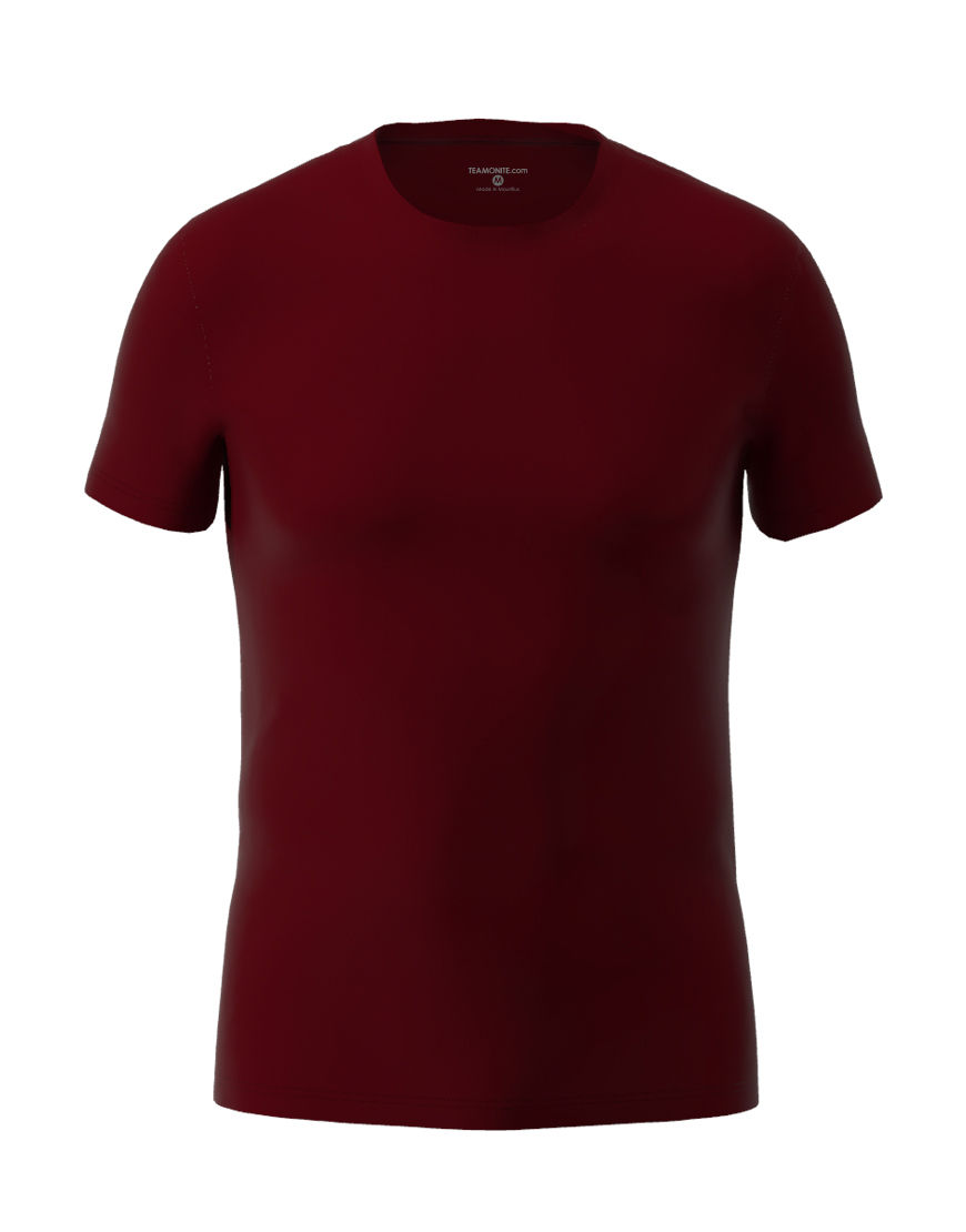 cotton stretch mens t shirt 3d burgundy
