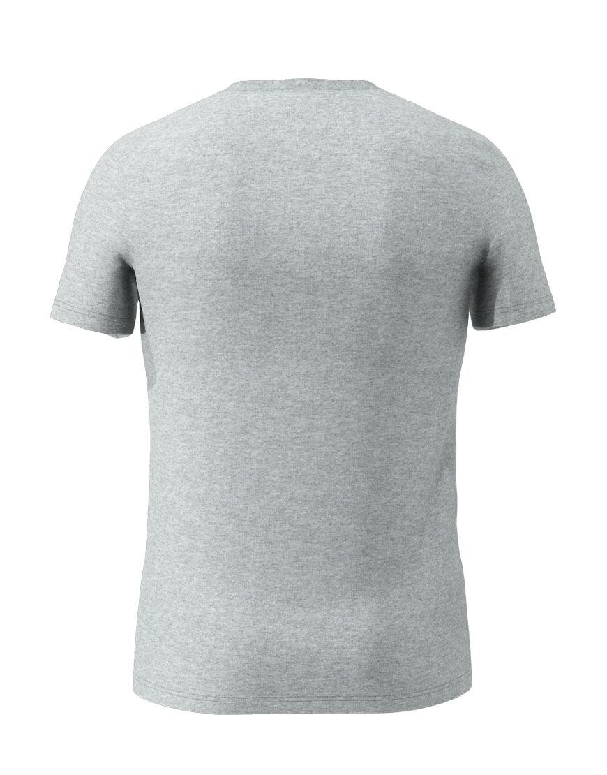cotton stretch mens t shirt 3d grey back