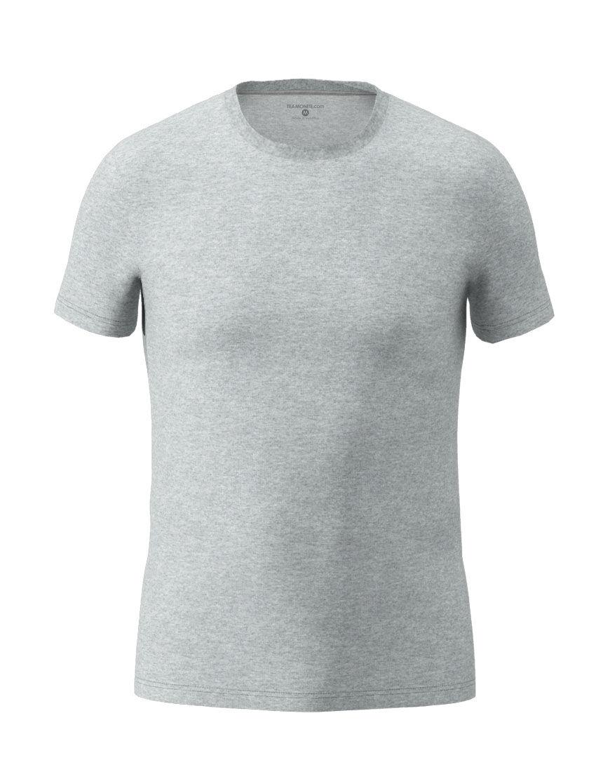 cotton stretch mens t shirt 3d grey