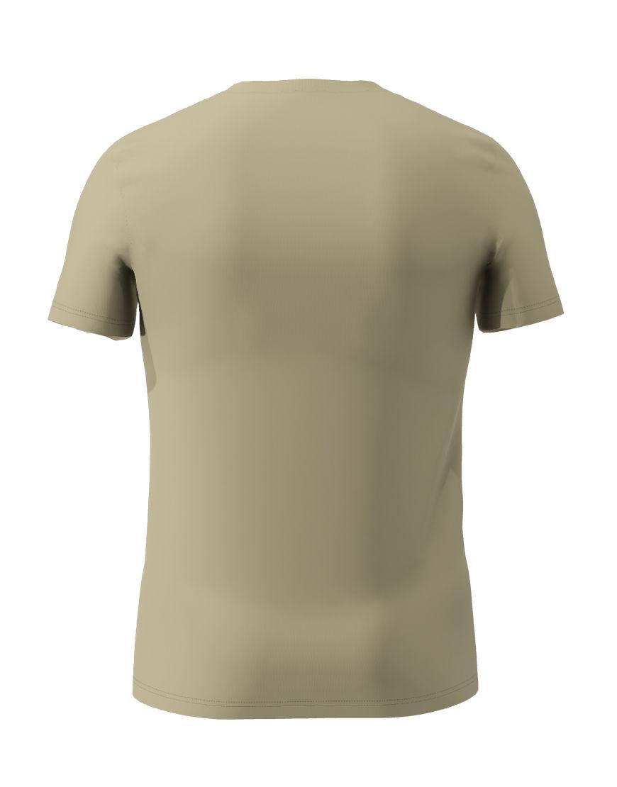 cotton stretch mens t shirt 3d light khaki back