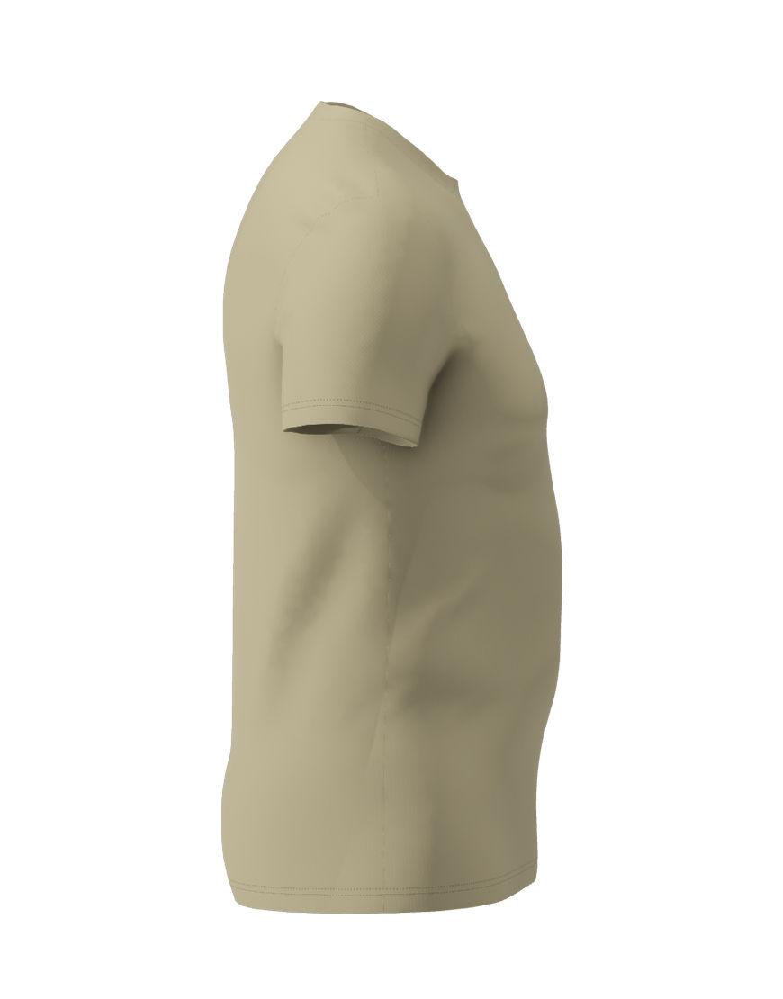 cotton stretch mens t shirt 3d light khaki right