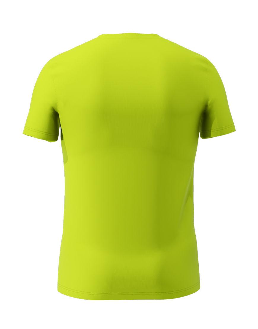 cotton stretch mens t shirt 3d lime punch back