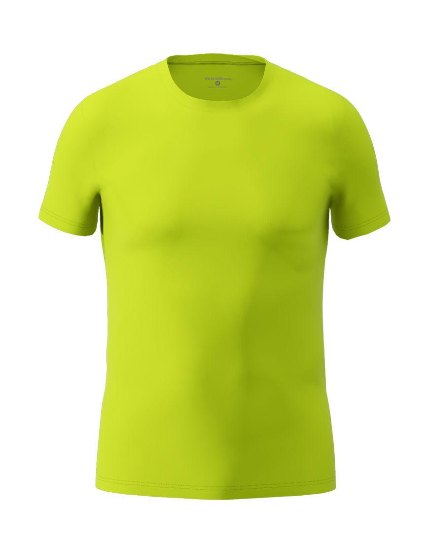 cotton stretch mens t shirt 3d lime punch