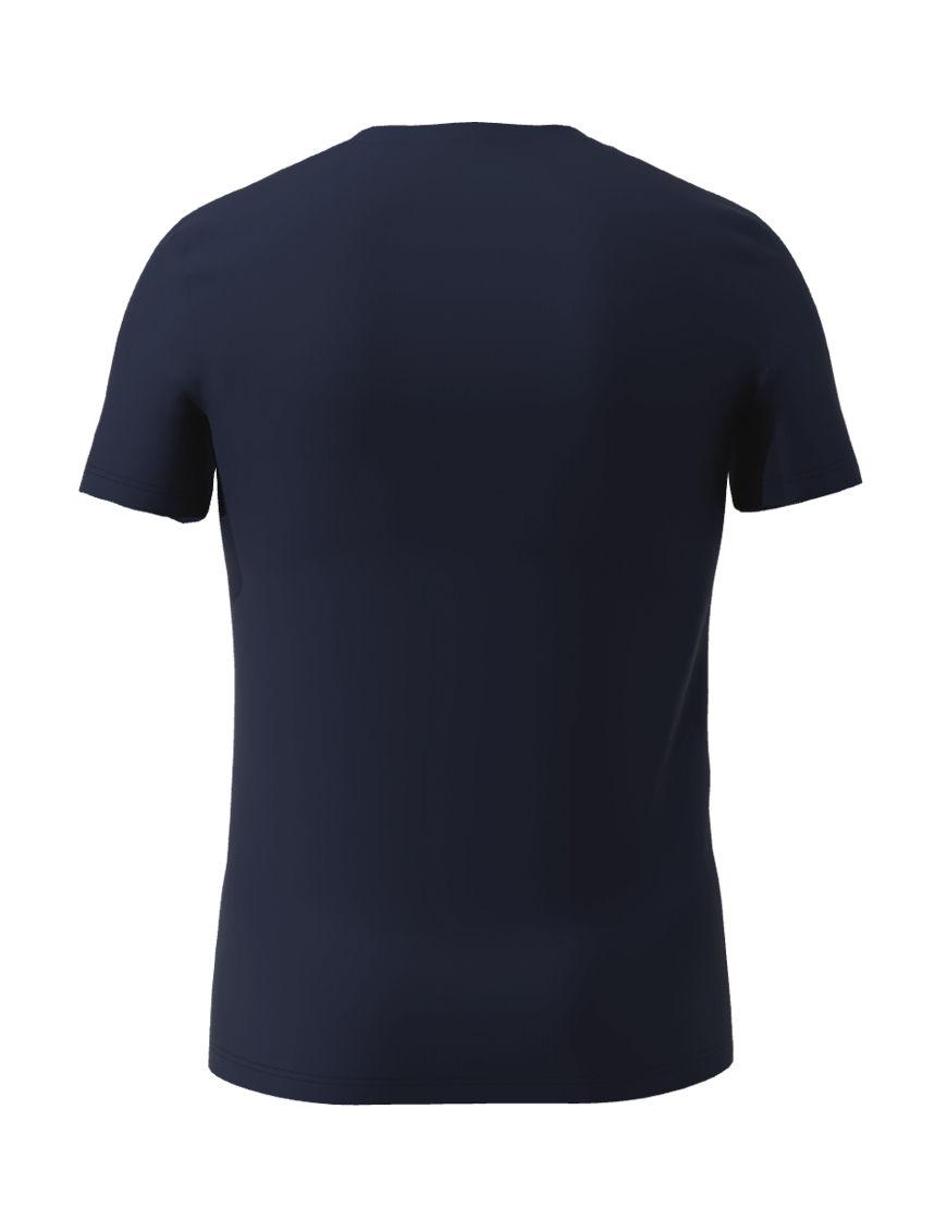 cotton stretch mens t shirt 3d navy back