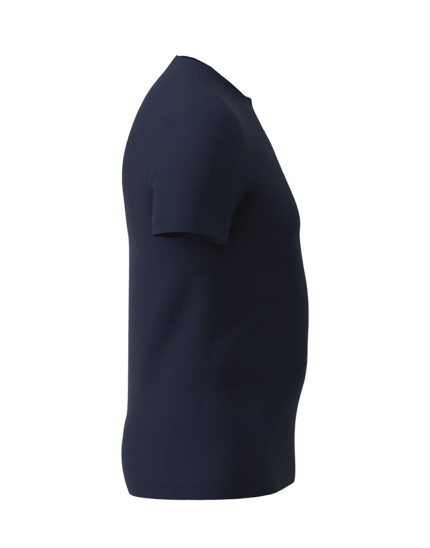 cotton stretch mens t shirt 3d navy right