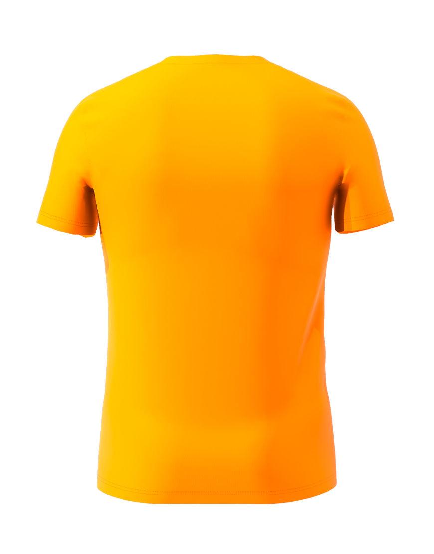 cotton stretch mens t shirt 3d orange back