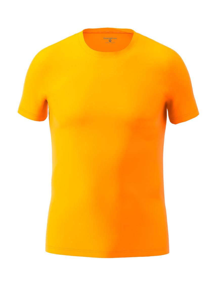 cotton stretch mens t shirt 3d orange