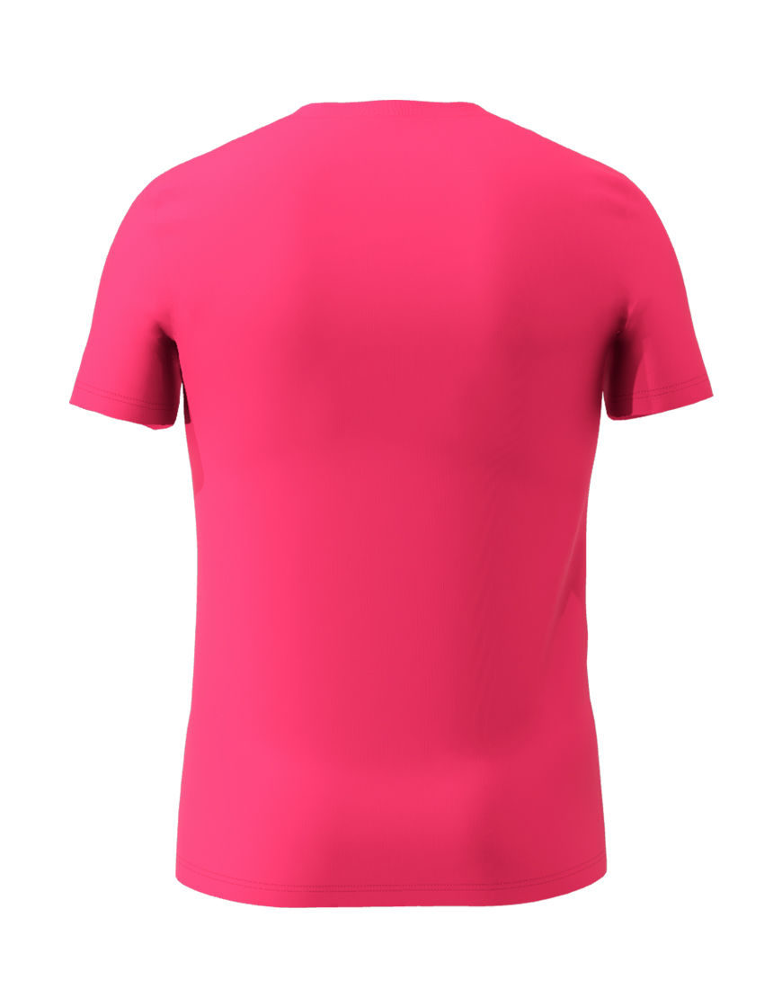 cotton stretch mens t shirt 3d pink back