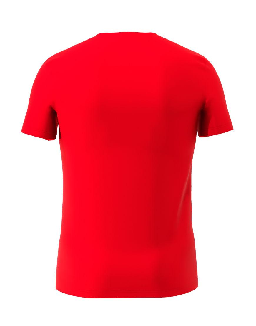 cotton stretch mens t shirt 3d red back
