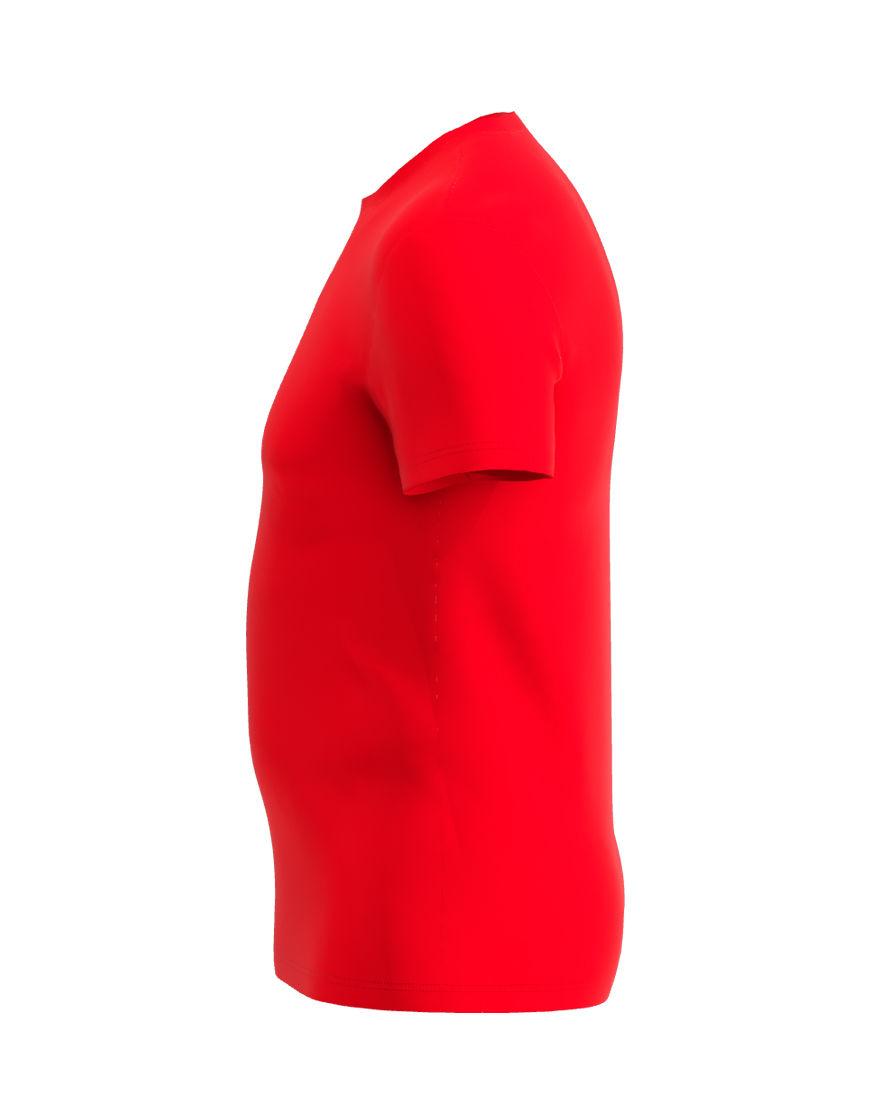 cotton stretch mens t shirt 3d red left