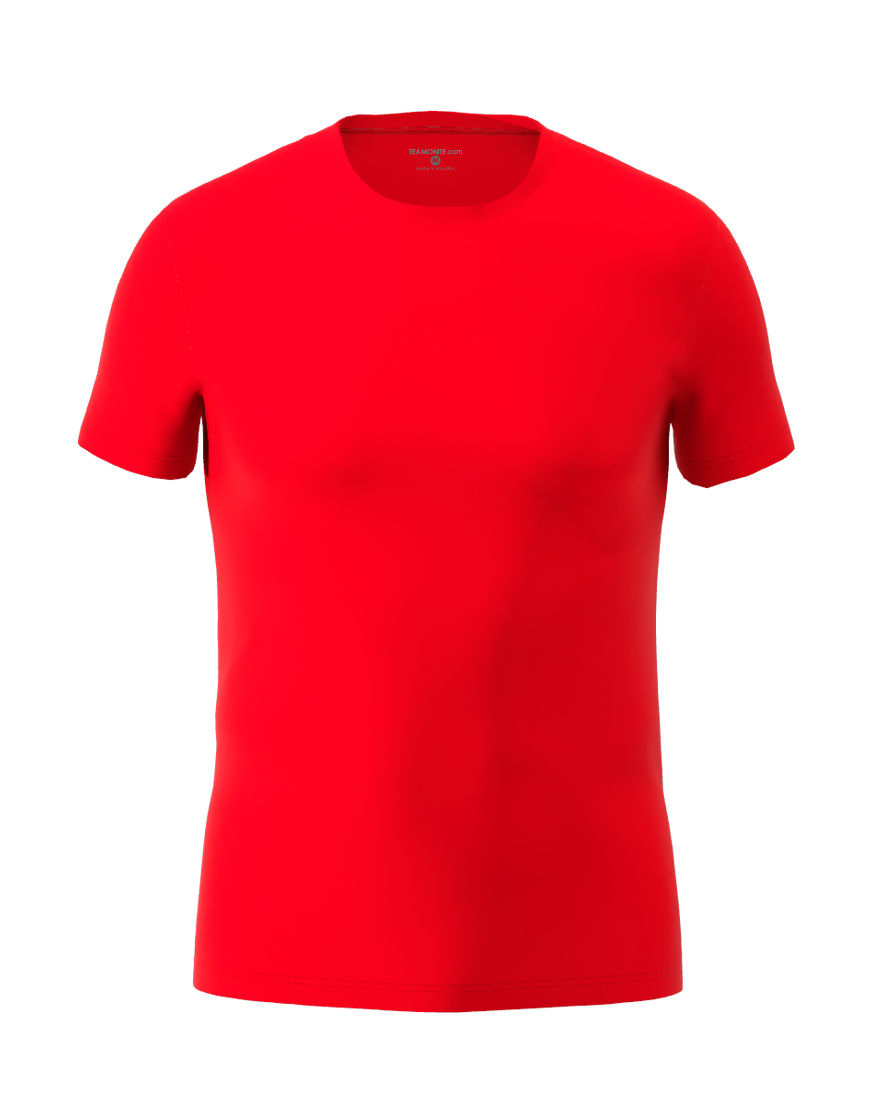 cotton stretch mens t shirt 3d red