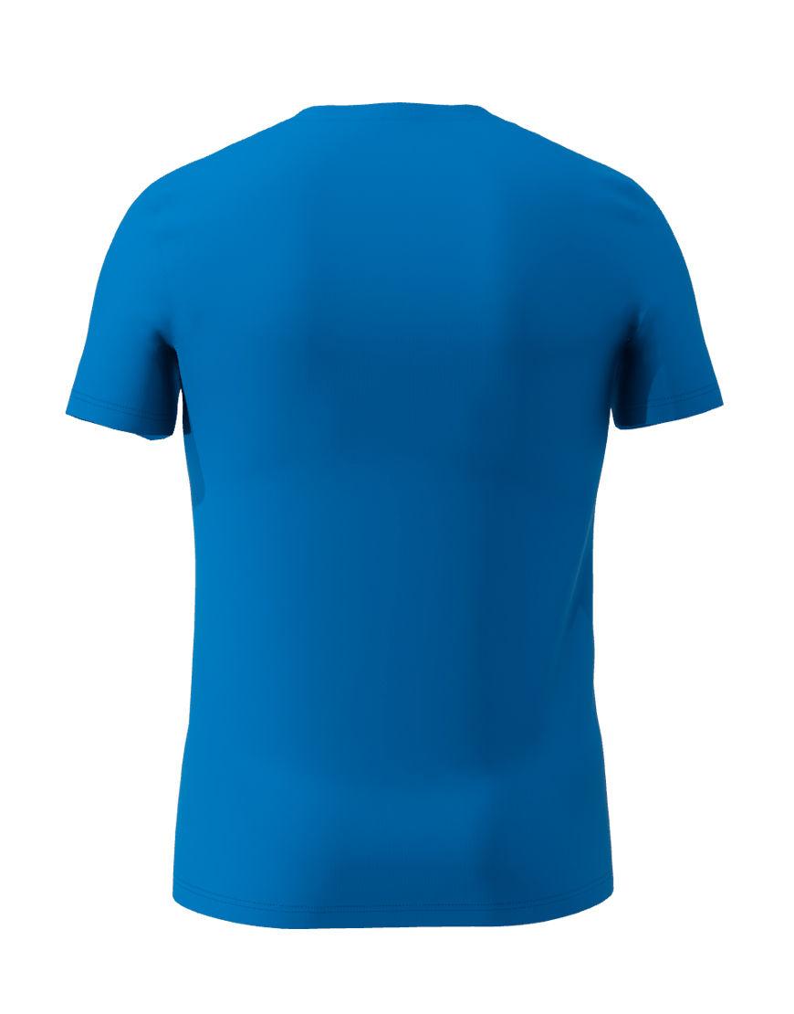 cotton stretch mens t shirt 3d royal blue back